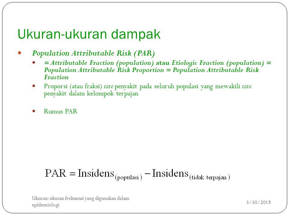 Ukuran-ukuran dampak Population Attributable Risk (PAR)