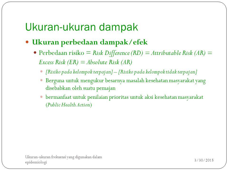 Ukuran-ukuran dampak Ukuran perbedaan dampak/efek