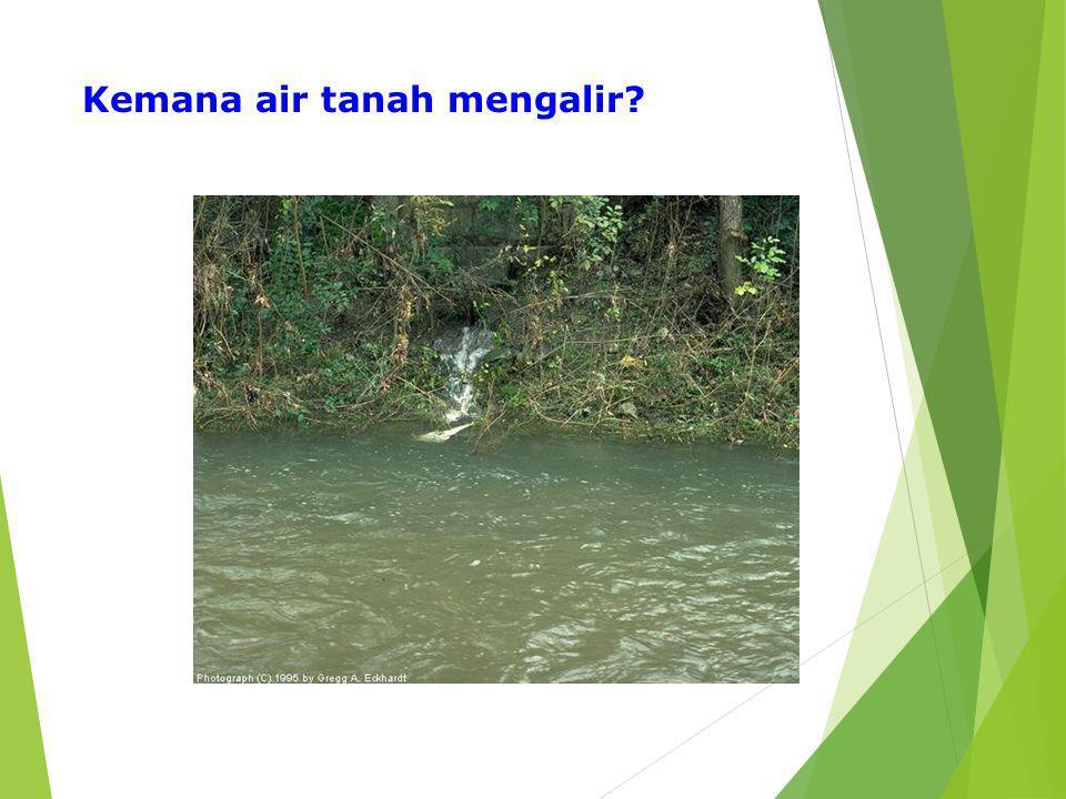 Kemana air tanah mengalir