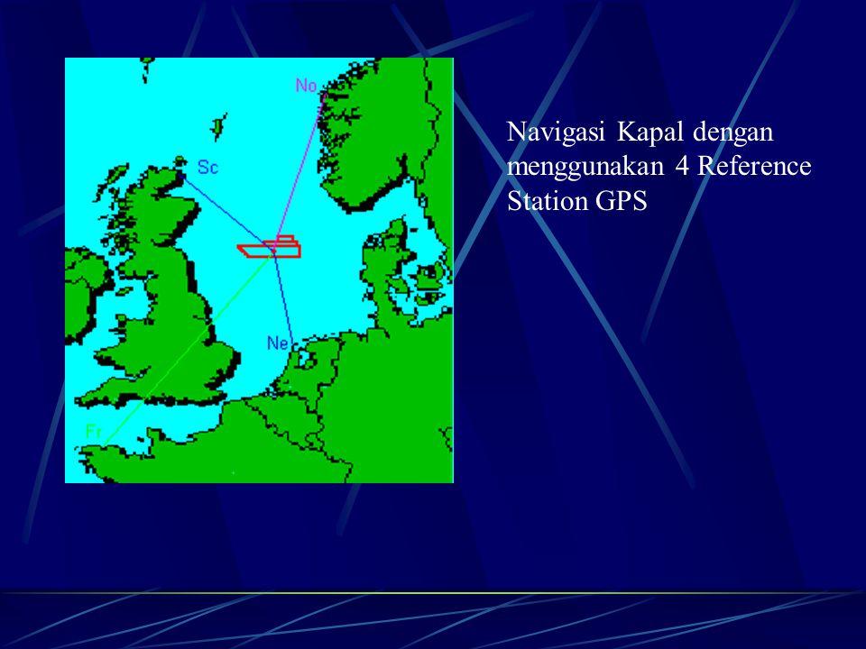 Navigasi Kapal dengan menggunakan 4 Reference Station GPS