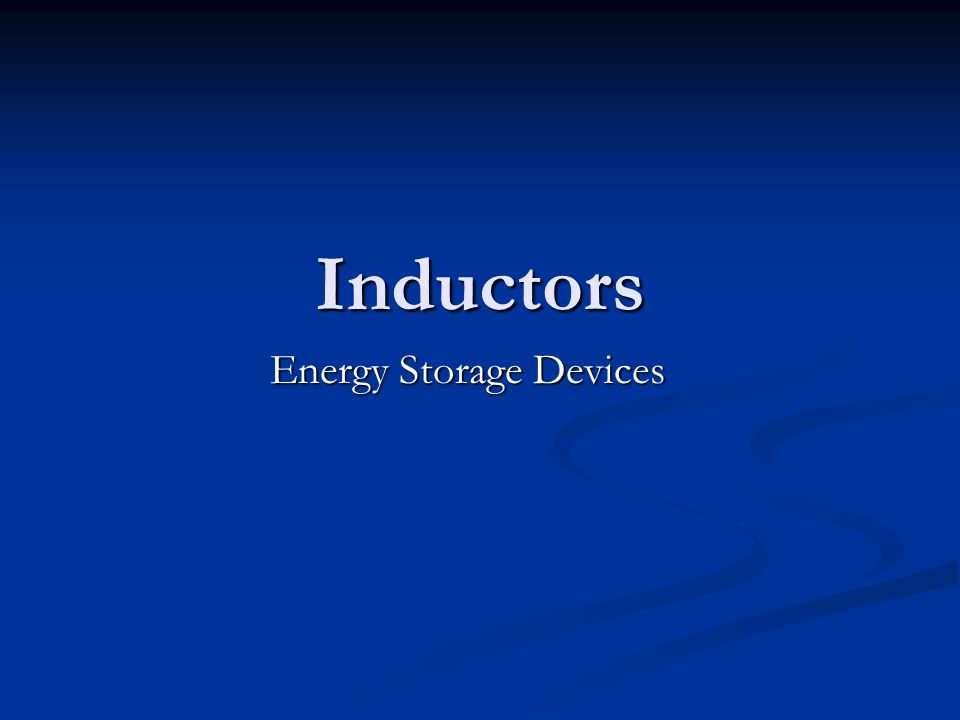 Energy Storage Devices