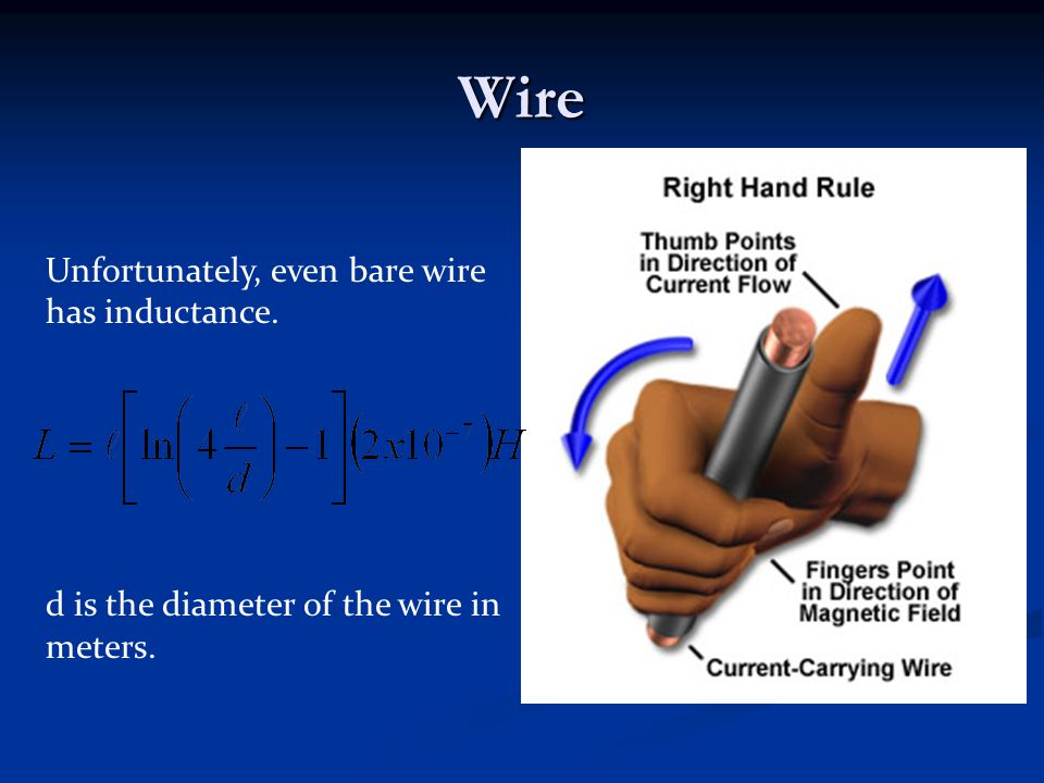 Wire Unfortunately, even bare wire has inductance.