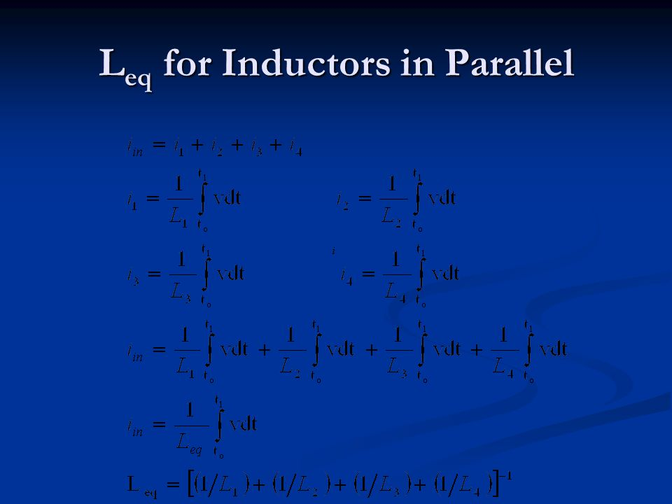 Leq for Inductors in Parallel