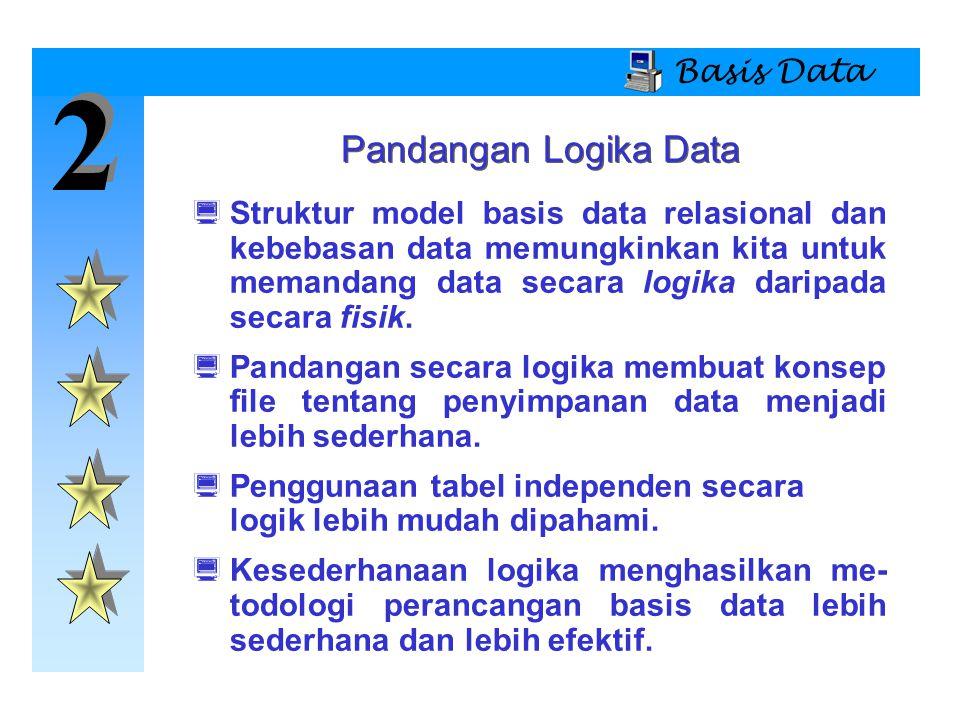2 Pandangan Logika Data Basis Data