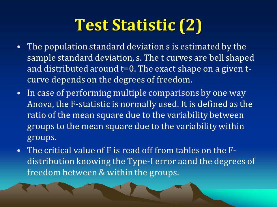 Test Statistic (2)