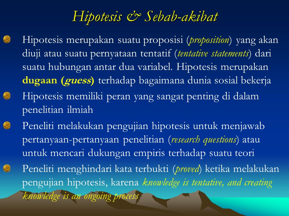 Hipotesis & Sebab-akibat