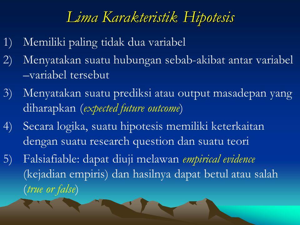 Lima Karakteristik Hipotesis