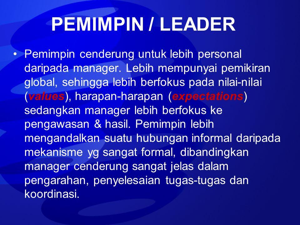 PEMIMPIN / LEADER