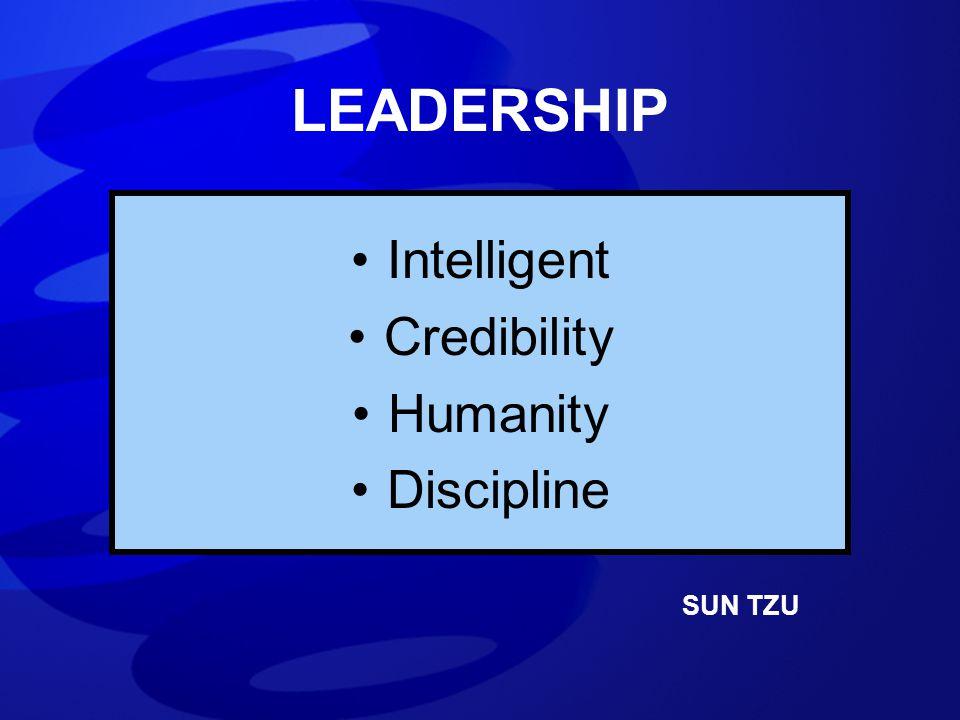 LEADERSHIP Intelligent Credibility Humanity Discipline SUN TZU