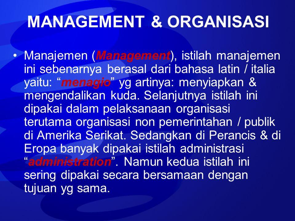MANAGEMENT & ORGANISASI