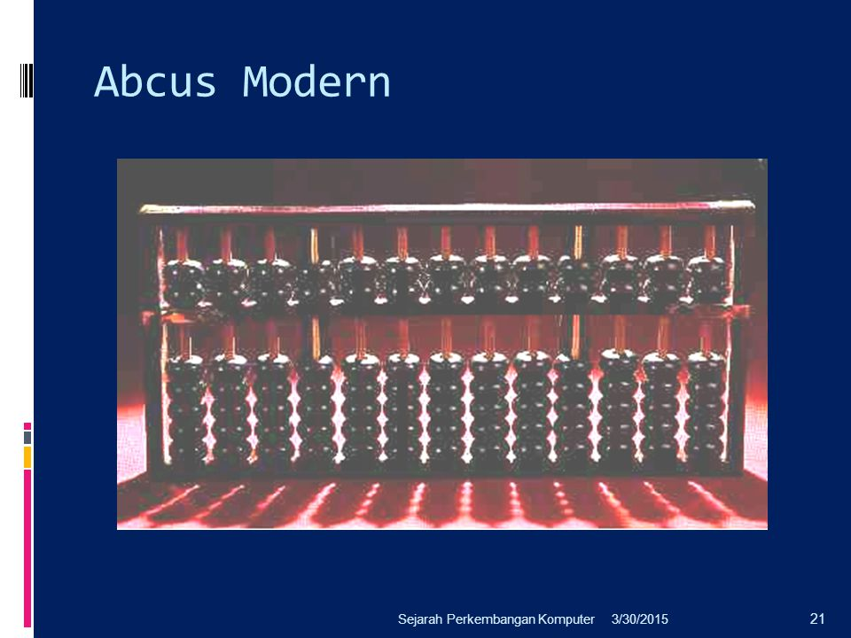 Abcus Modern Sejarah Perkembangan Komputer 4/8/2017