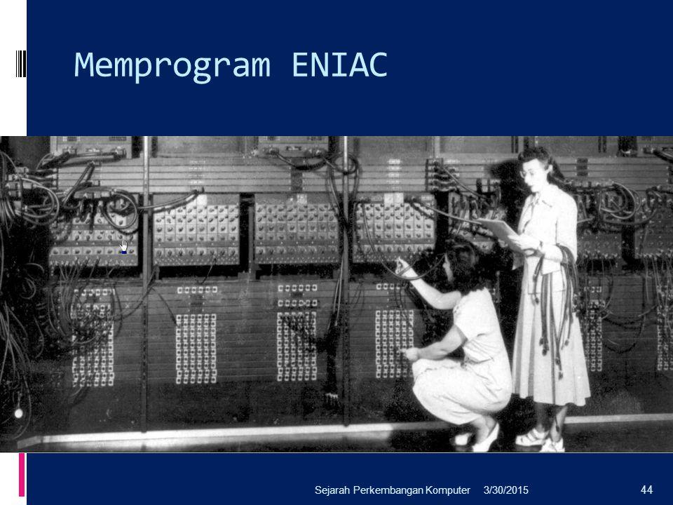 Memprogram ENIAC Sejarah Perkembangan Komputer 4/8/2017