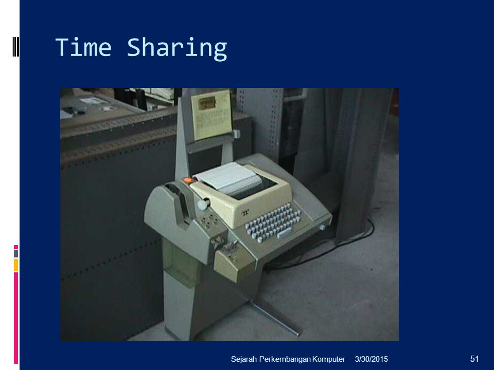 Time Sharing Sejarah Perkembangan Komputer 4/8/2017
