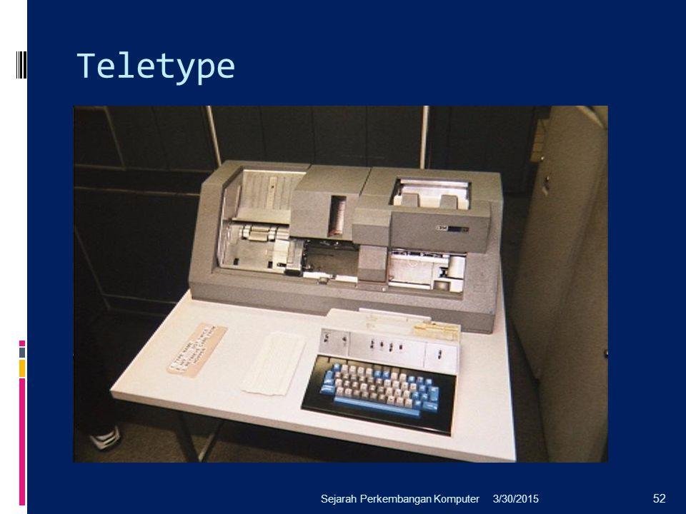 Teletype Sejarah Perkembangan Komputer 4/8/2017