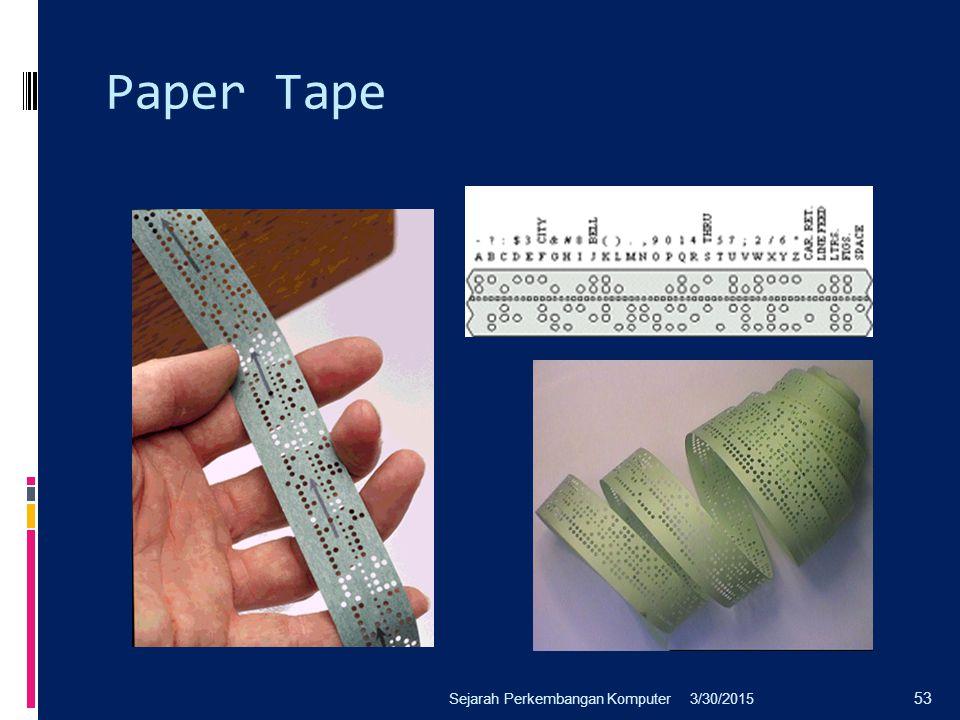 Paper Tape Sejarah Perkembangan Komputer 4/8/2017