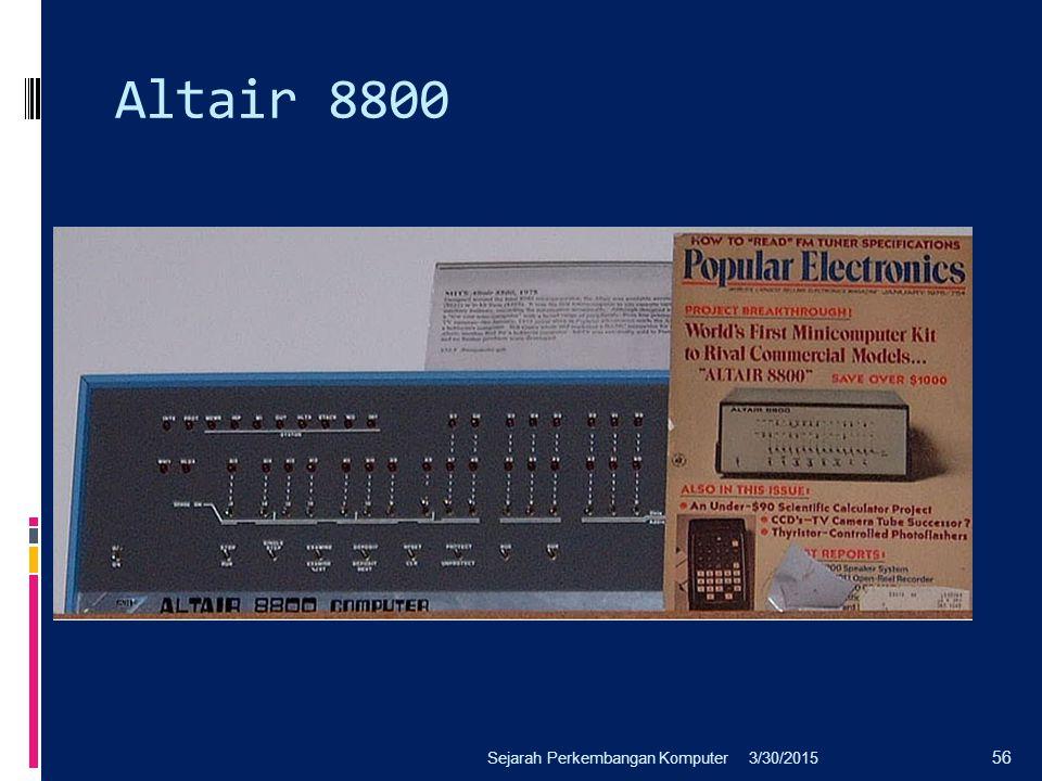 Altair 8800 Sejarah Perkembangan Komputer 4/8/2017
