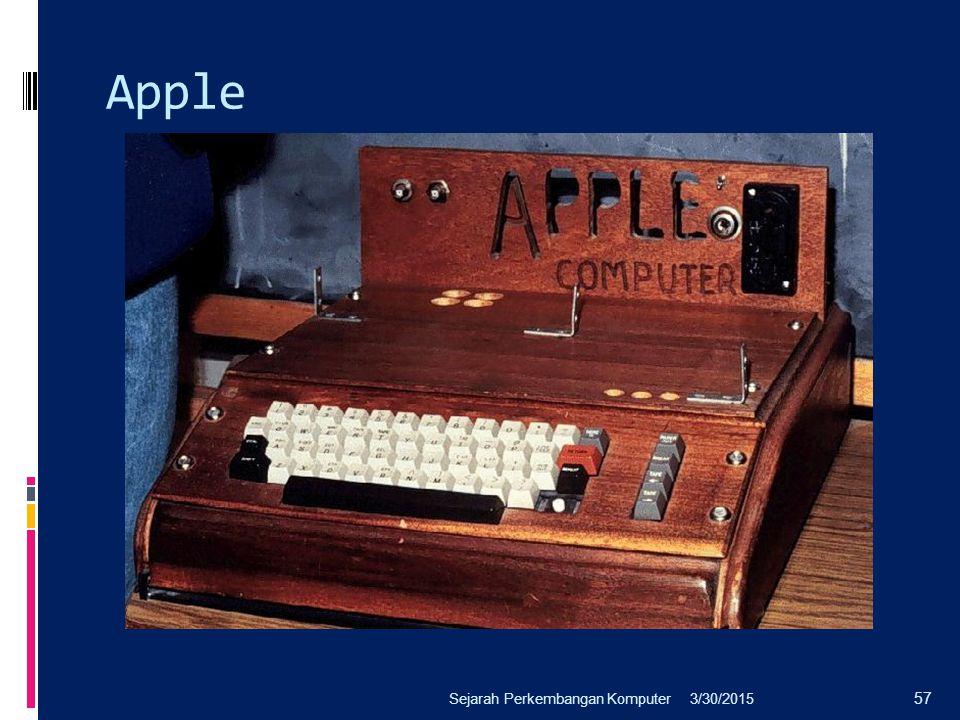Apple Sejarah Perkembangan Komputer 4/8/2017