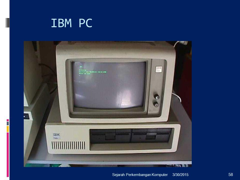 IBM PC Sejarah Perkembangan Komputer 4/8/2017