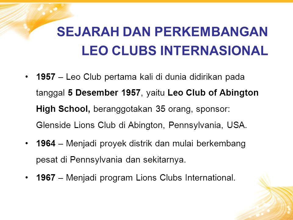 SEJARAH DAN PERKEMBANGAN LEO CLUBS INTERNASIONAL