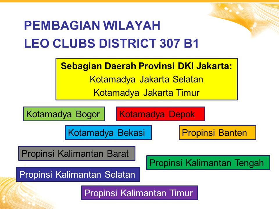 PEMBAGIAN WILAYAH LEO CLUBS DISTRICT 307 B1