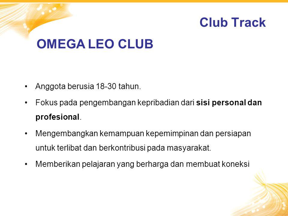 Club Track OMEGA LEO CLUB Anggota berusia 18-30 tahun.