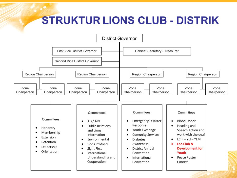 STRUKTUR LIONS CLUB - DISTRIK