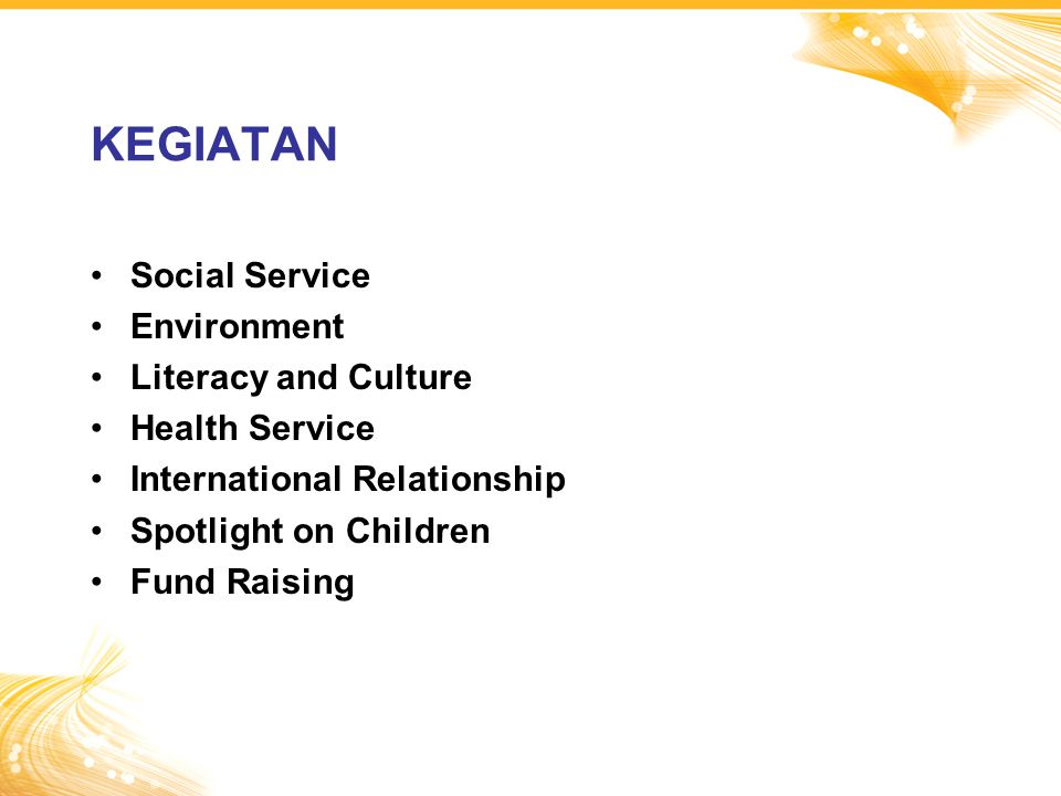 KEGIATAN Social Service Environment Literacy and Culture