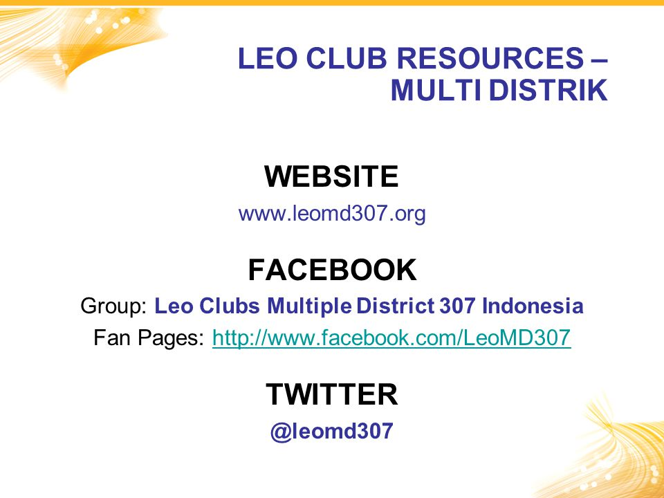 LEO CLUB RESOURCES – MULTI DISTRIK