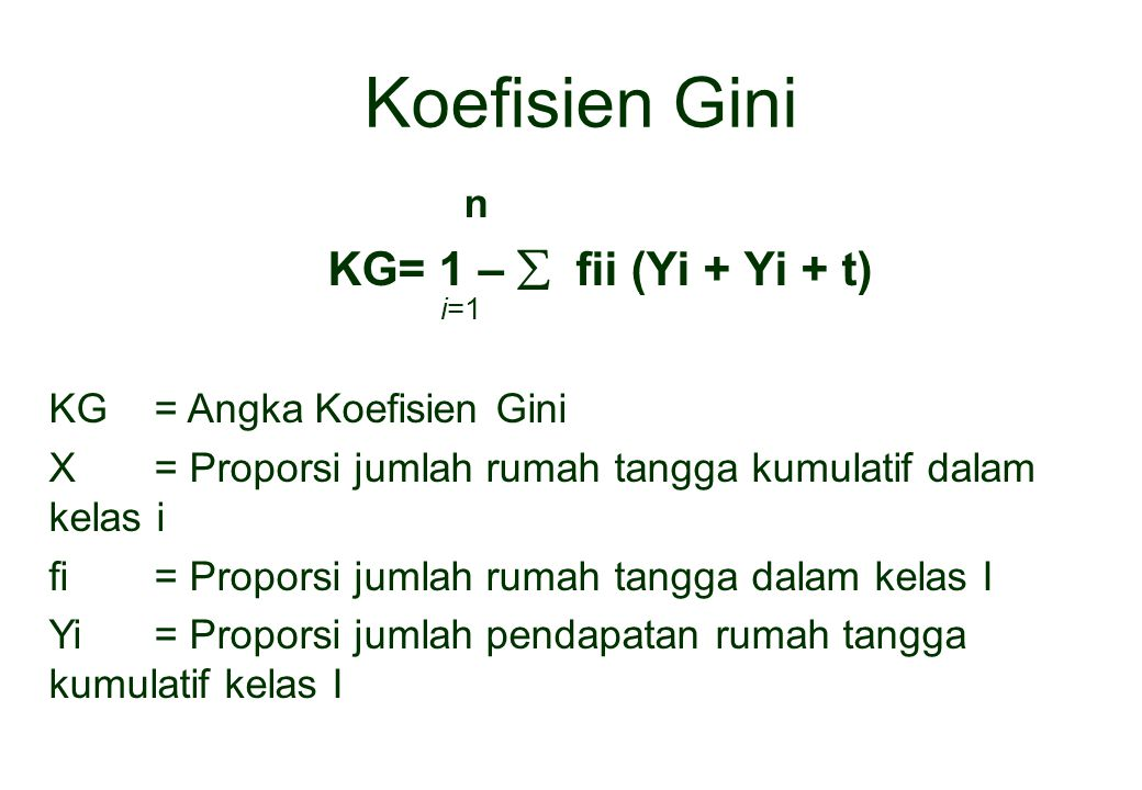 n KG= 1 –  fii (Yi + Yi + t) i=1