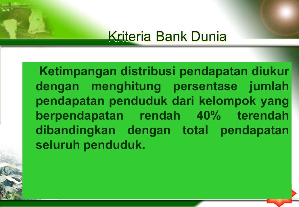 Kriteria Bank Dunia