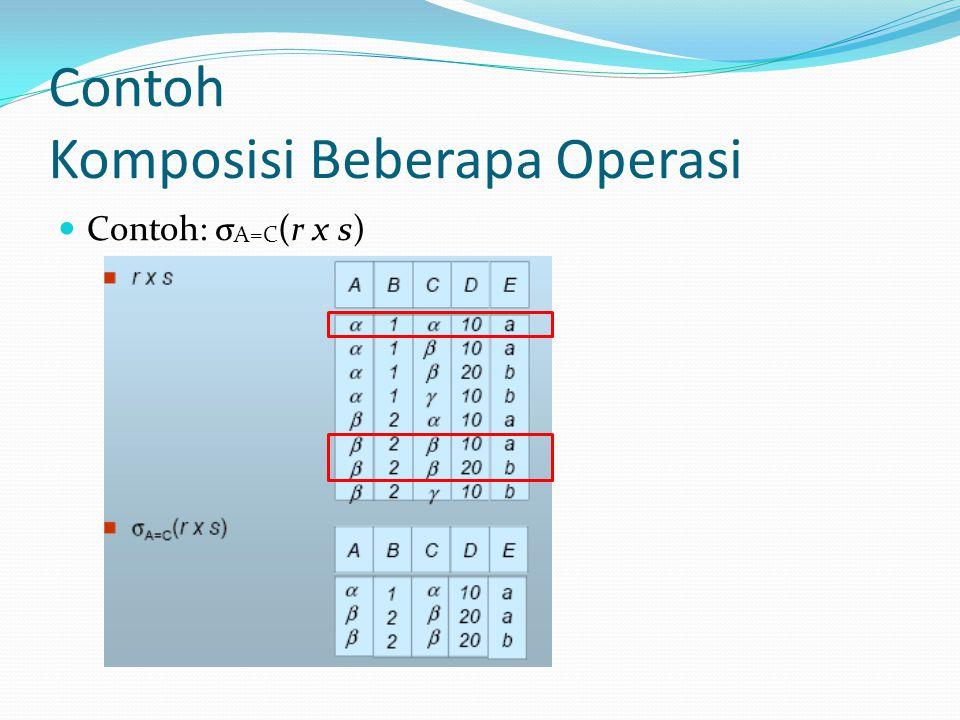 Contoh Komposisi Beberapa Operasi