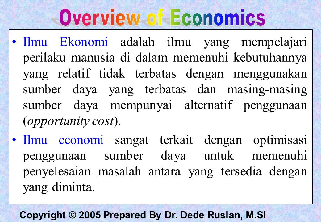 Overview of Economics
