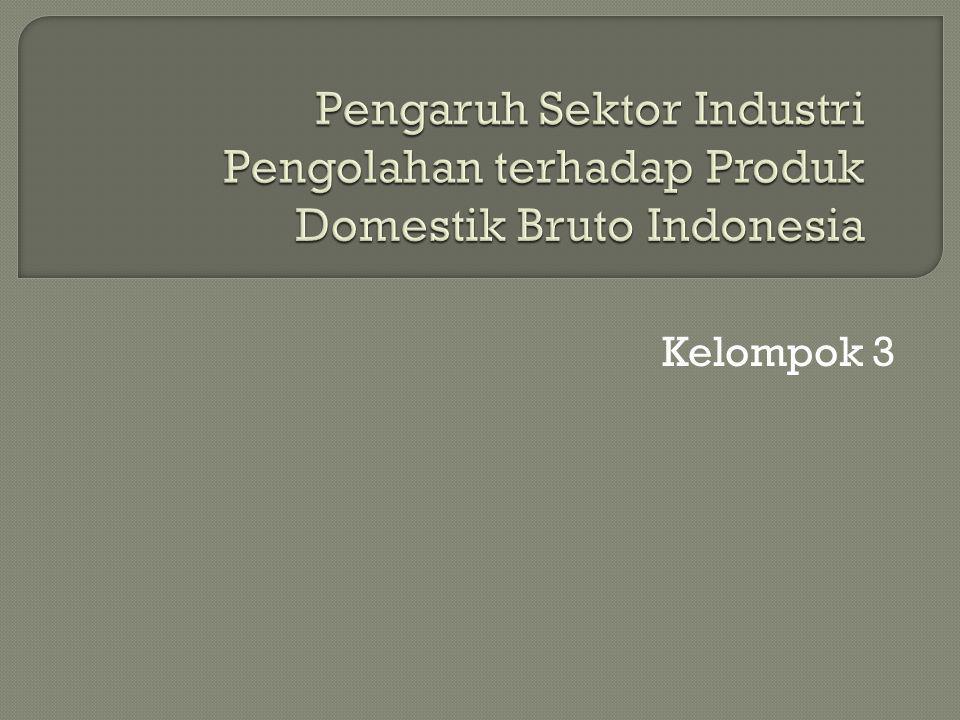 Pengaruh Sektor Industri Pengolahan terhadap Produk Domestik Bruto Indonesia