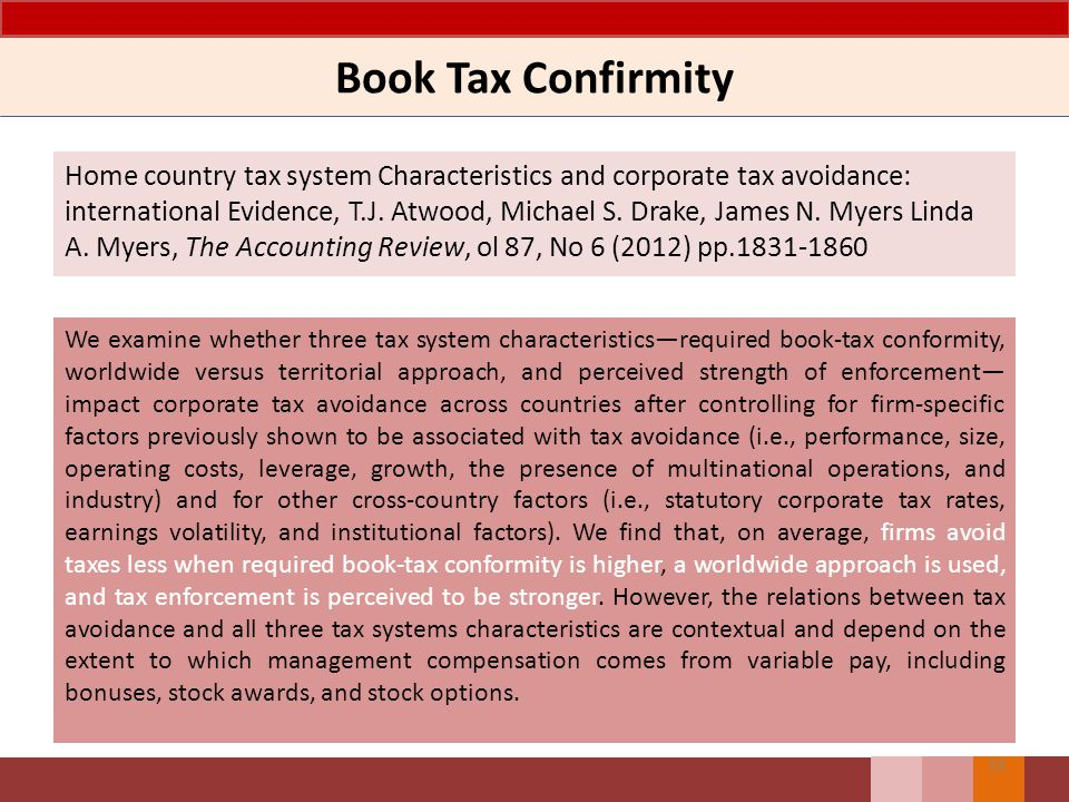 Book Tax Confirmity
