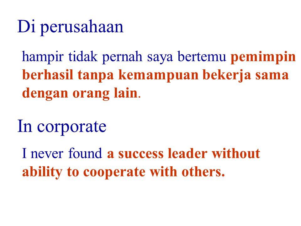 Di perusahaan In corporate