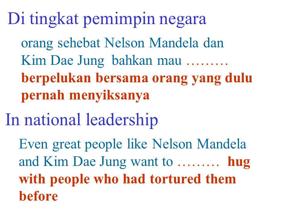 Di tingkat pemimpin negara
