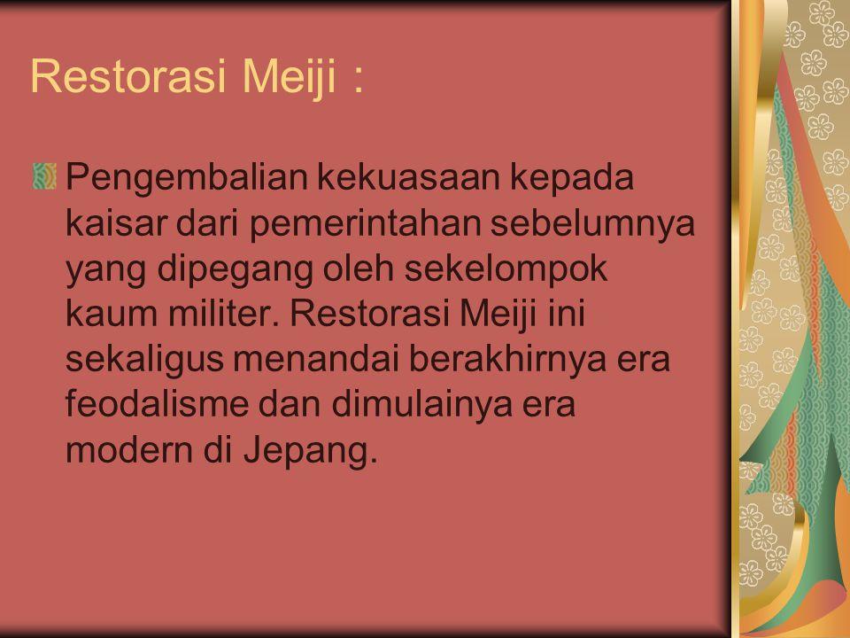 Restorasi Meiji :