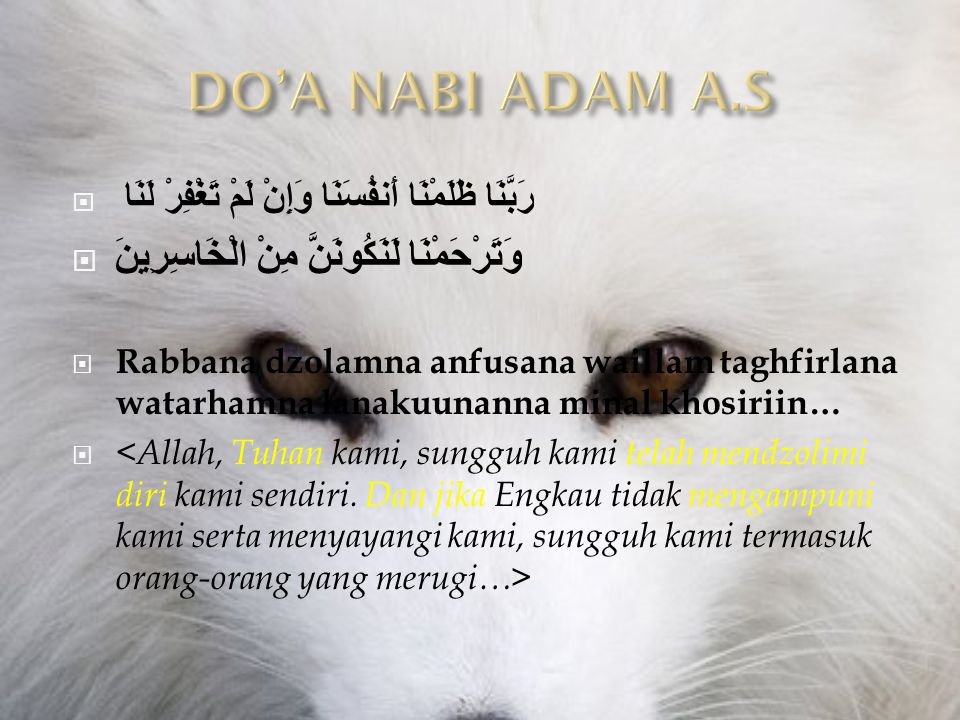 DO'A NABI ADAM A.S وَتَرْحَمْنَا لَنَكُونَنَّ مِنْ الْخَاسِرِينَ