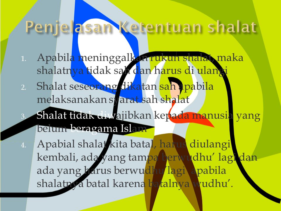 Penjelasan Ketentuan shalat