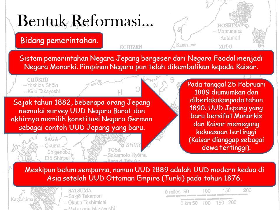 Bentuk Reformasi... Bidang pemerintahan.
