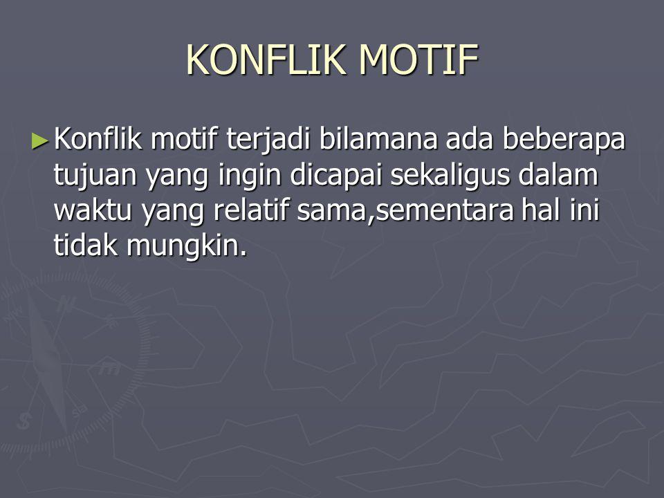 KONFLIK MOTIF