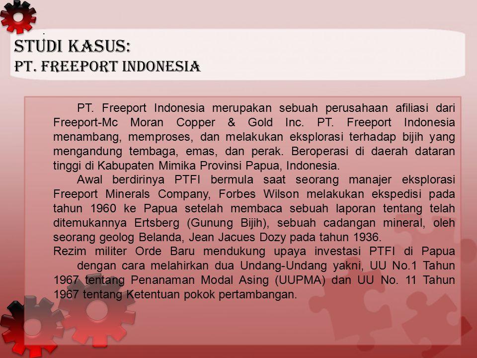 Studi Kasus: PT. Freeport Indonesia :