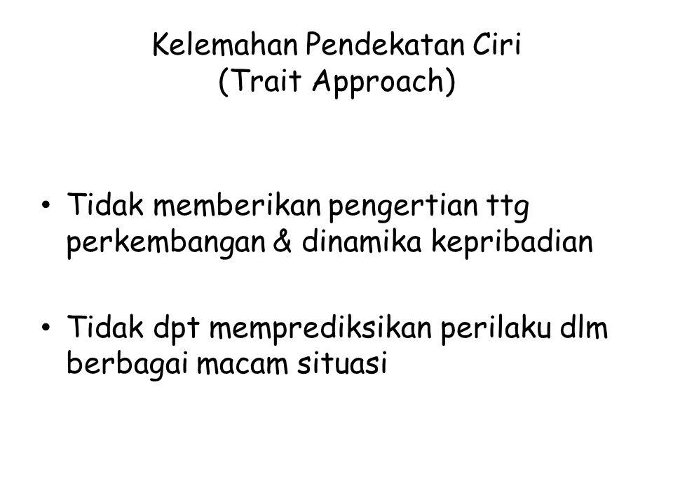 Kelemahan Pendekatan Ciri (Trait Approach)