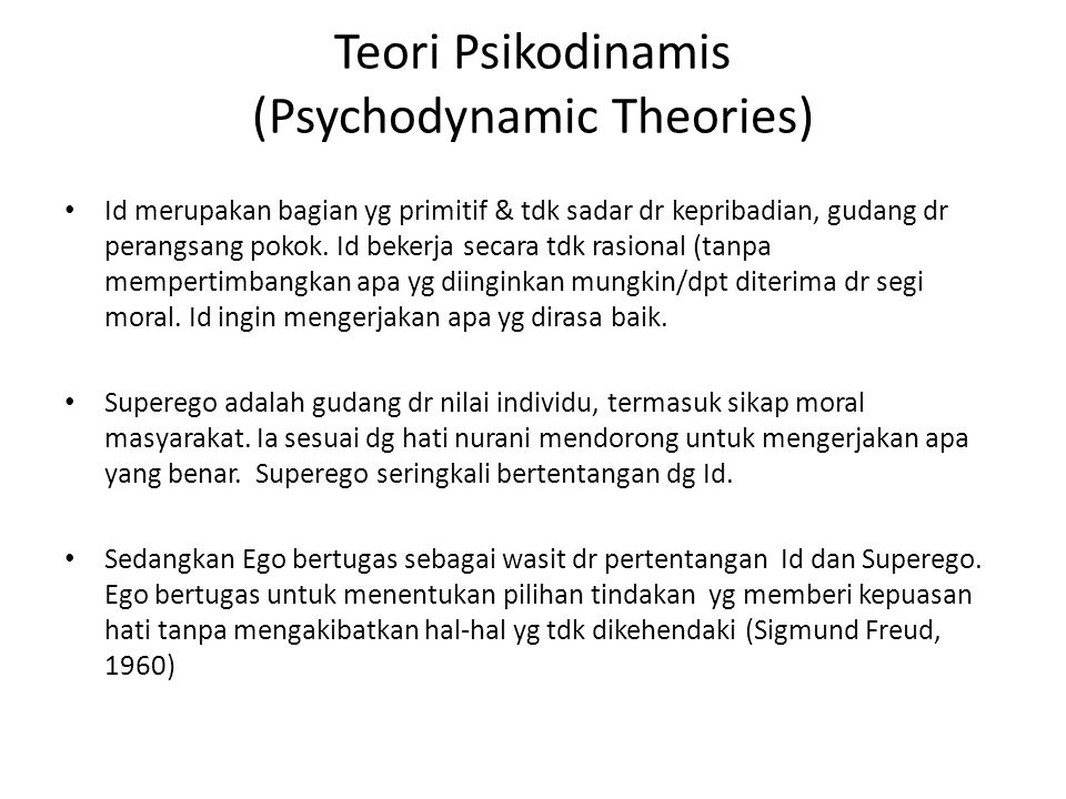 Teori Psikodinamis (Psychodynamic Theories)