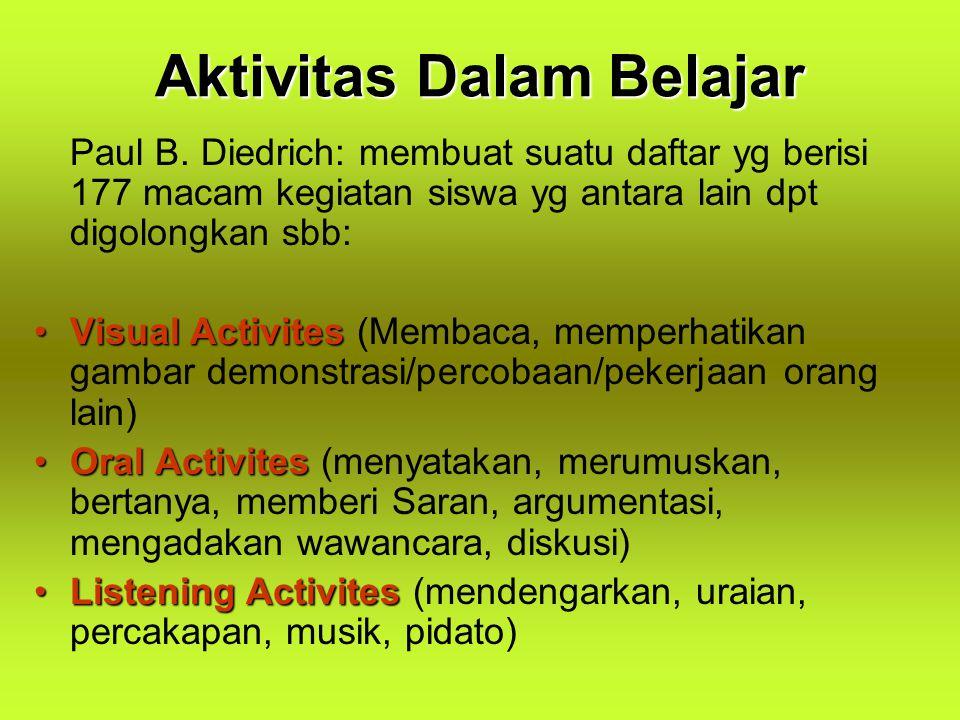 Aktivitas Dalam Belajar
