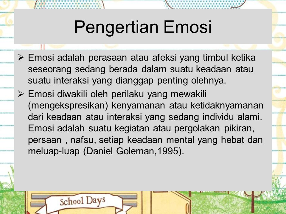 Pengertian Emosi
