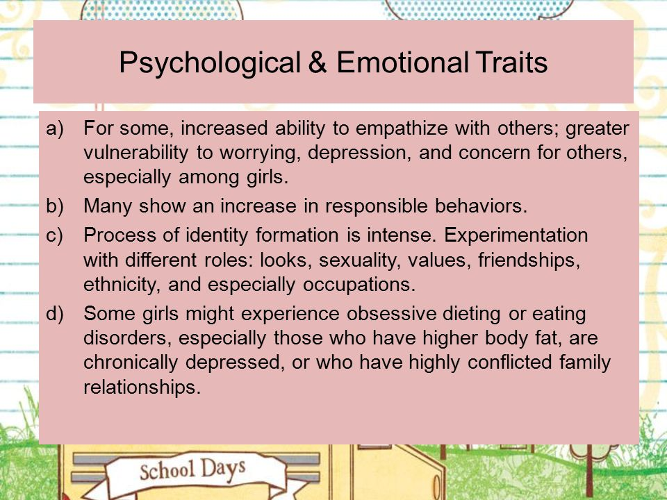 Psychological & Emotional Traits