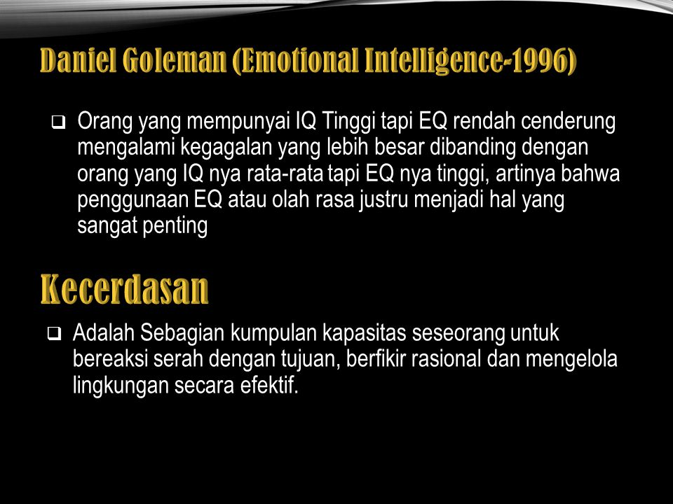 Daniel Goleman (Emotional Intelligence-1996)