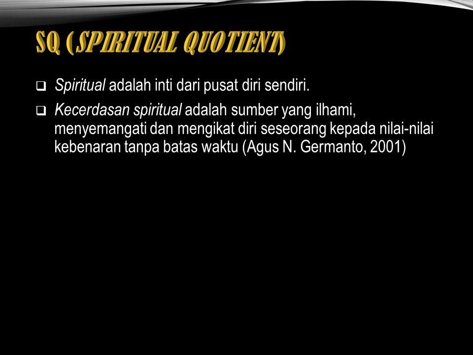 SQ (SPIRITUAL QUOTIENT)