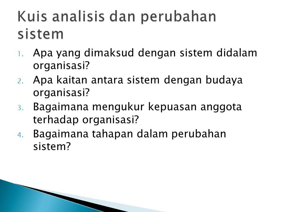 Kuis analisis dan perubahan sistem